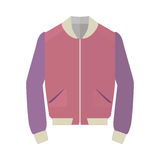 Unisex Sport Jacket Flat Style Vector Illustration Stock Photography
