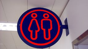 Unisex toilet sign. public toilet. WC. Stock Photography