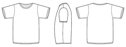 unisex- vektor för normal mall för illustrationskjorta t Royaltyfri Bild