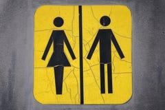 Unisextoiletten-Zeichen Lizenzfreies Stockbild