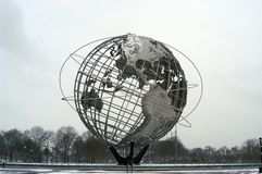 Unisphere. Winter photograph of the Unisphere royalty free stock images