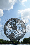 Unisphere - Flushing Meadows–Corona Park, New Yo. The Unisphere is a 12-story high, spherical stainless steel representation of the Earth. Located in Royalty Free Stock Photo
