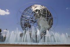 Unisphere in Fushing-Weiden Corona Park, Queens - New York stock afbeelding