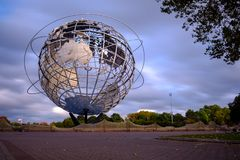 Unisphere globe in Flushing Meadows Corona Park Stock Photo