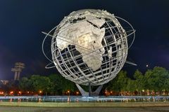 Unisphere Sculpture - New York. Flushing, New York - September 19, 2015: The iconic Unisphere in Flushing Meadows Corona Park in Queens, NYC. The 12 story royalty free stock photo