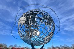 Unisphere - spola, Queens royaltyfria bilder