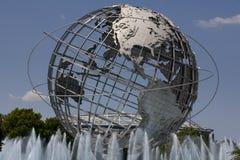 Unisphere w Fushing łąk korony słonecznej parku, queens - Nowy Jork obrazy royalty free