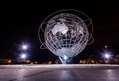 Unisphere - Worlds Fair - Queens, New York. Long exposure night illumination of Worlds Fair Unisphere produces starbursts. Built for the 1964-1965 New York World stock photos