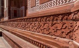 Unisque architektoniczni szczegóły Czerwony fort, Agra, Obraz Stock