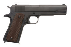 Unissued Military Pistol 1911A1 Royalty Free Stock Photos