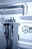 Unità centrale della fornace di gas fotografie stock