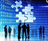 Unità corporativa Team Collabration Concept del puzzle Fotografie Stock Libere da Diritti