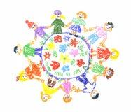 Unità dei bambini Immagini Stock Libere da Diritti