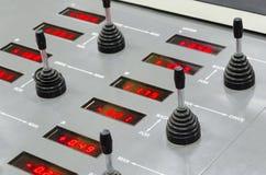 Unità di controllo chiave di registrazione sulla macchina della stampa di contrappeso Fotografie Stock Libere da Diritti
