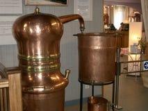 Unità di distillazione della lavanda fotografia stock