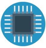 Unità di elaborazione Chip Color Isolated Vector Icon che può essere modificata e pubblicare facilmente royalty illustrazione gratis
