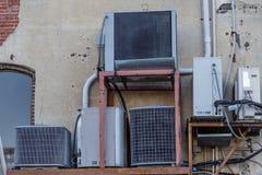 Unità di HVAC di Mujltiple Fotografia Stock Libera da Diritti