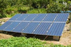 Unità di matrice delle cellule fotovoltaiche della famiglia Fotografie Stock Libere da Diritti