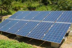 Unità di matrice delle cellule fotovoltaiche della famiglia Immagini Stock Libere da Diritti