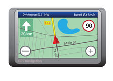 Unità di percorso di GPS illustrazione vettoriale