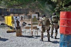 Unità di polizia speciale nell'addestramento Immagini Stock Libere da Diritti