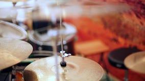 Unità di tamburo con i piatti video d archivio