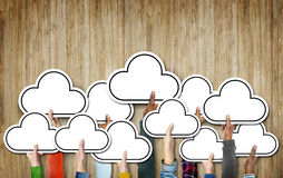 Unità etnica Conce dell'icona di simbolo di etnia di diversa diversità della nuvola fotografie stock