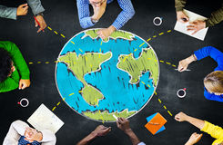 Unità internazionale di riunione di ecologia globale che impara Concep immagine stock libera da diritti