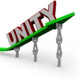 Unità - la squadra lavora insieme illustrazione di stock