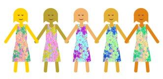 Unità nella diversità - potere della ragazza Immagine Stock Libera da Diritti