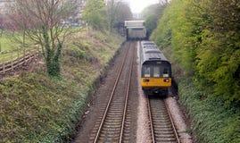 Unità nordica dell'apripista della classe 142 dei treni vicino a Harrogate Fotografia Stock
