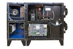 Unità per gli stagni dell'interno, vista interna di ventilazione fotografie stock libere da diritti