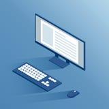 Unità periferiche di computer isometriche Immagine Stock