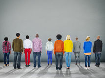Unità Team Concept corporativo di retrovisione della gente Fotografia Stock Libera da Diritti