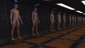 Unità umana del clone immagine stock