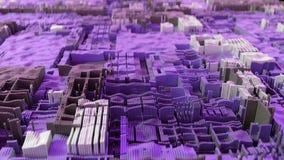 unité centrale de traitement 4K moderne abstraite Exploitation de données, concept de étude profond d'AI illustration libre de droits