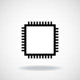 Unité centrale de traitement microprocesseur puce Image libre de droits