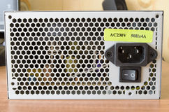 Unité d'alimentation d'énergie d'ordinateur Image stock