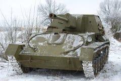 Unité d'artillerie autopropulsée SU-76 image stock