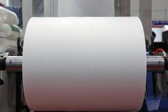 Unité d'enroulement de machine de soufflement de feuille de plastique d'extrusion image stock