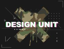 Unité de conception pour le T-shirt élégant illustration stock