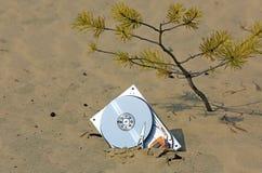 Unité de disque dur d'ordinateur perdu Photo stock