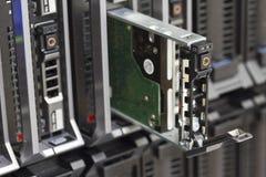 Unité de disque dur dans le serveur de lame Photographie stock libre de droits
