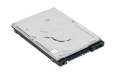 Unité de disque dur de l'ordinateur portatif SATA Photographie stock
