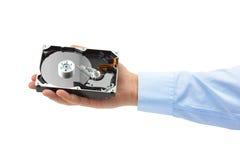 Unité de disque dur de main et d'ordinateur Images libres de droits