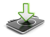 Unité de disque dur externe avec l'icône de flèche Image libre de droits