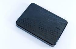 Unité de disque dur noire externe image stock