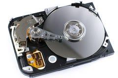 Unité de disque dur ouverte d'isolement Image stock