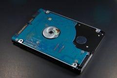 Unité de disque dur sur le fond noir Photographie stock libre de droits