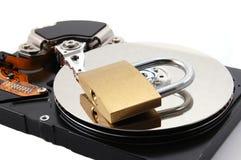 unité de disques d'ordinateur dur bloquée images stock